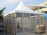 шатер партии Gazebo стеклянной стены 5X5m ясный для Wedding Adertising