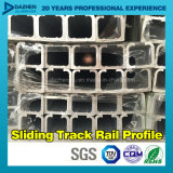 Deslizar el perfil de aluminio T5 del aluminio 6063 del carril de la pista con color modificado para requisitos particulares de la talla