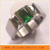 Anillo de moda corte del alambre de acero inoxidable de titanio (TR1830)