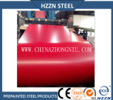 Prepainted стальная катушка (PPGI, красный цвет RAL3009)