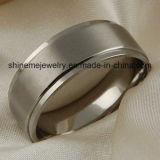 Joyería de moda de titanio con anillo de dedo de plata