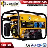 3kVA / 2.8kVA Pequeño generador portátil de gas / gasolina refrigerado por aire