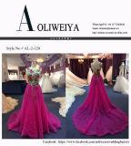 Пурпуровое платье вечера шнурка для Wedding с отдельно поездом