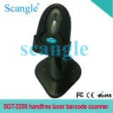 Sgt-3208 Portable Handfree Laser Barcode Scanner com suporte