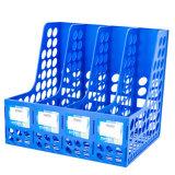 4 Colunas Office Home Desk Revista Plástico Organizador caixa porta-arquivos