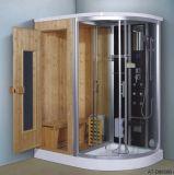 Combiné à la vapeur d'un sauna avec douche (à-d8858B)