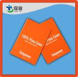 La ropa del algodón de Pima utilizó el Hangtag con el fondo rojo y el precio barato
