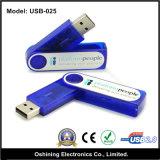 Azionamento variopinto del USB della parte girevole dell'OEM, capienza personalizzata (USB-025)