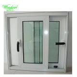 Design de moldura branca UPVC churrasqueiras Janela Deslizante, Madeira Coextrusion UPVC janela Perfil de Grãos