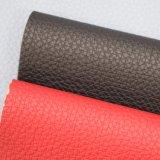 Couro de sapata gravado do saco do PVC da grão do Litchi couro grande