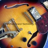 Double F-trous jazz archtop de corps creux, guitare électrique avec système de trémolo (TJ-262)