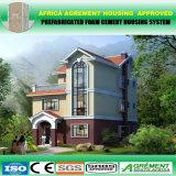 Casa rápida de aço clara do Prefab da ereção de África/Ásia/Ámérica do Sul