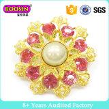 方法結婚式のためのカスタム金属の金の花の花束の真珠のブローチ