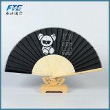 Ventiladores à mão de dobramento impressos personalizados do ventilador da mão costume de seda