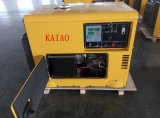 AC phase unique de 60Hz/6kw générateur diesel silencieux de démarrage à clé avec carte du panneau numérique pour la maison et utiliser la boutique