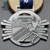 卸売によって型抜きされる合金の骨董品の青銅のカスタムマラソン競争メダル