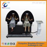 2 cine de la pantalla táctil de los asientos del huevo de los jugadores 9d Vr con el receptor de cabeza 9d