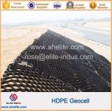 HDPE di superficie liscio Geocell di plastica del nero del sistema di relegazione per protezione del pendio