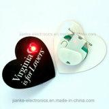 Kundenspezifisches blinkendes Abzeichen des Entwurfs-LED mit Firmenzeichen Pringting (3161)