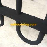 Recinzione d'acciaio rivestita del comitato superiore del ciclo della polvere ornamentale