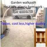 Garten-Bürgersteig-Plastikverschalung-Arbeit schneller, Kosten weniger, Leichtgewichtler, mehrfachverwendbarer Bürgersteig
