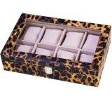 Caixa de caixinha clássica de couro preto