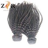 De onverwerkte Maagdelijke Kroezige Weefsels van het Menselijke Haar van de Krul Remy