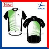 Sublimazione della tintura personalizzata abiti sportivi liberi di disegno di Healong che cicla la Jersey