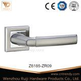 Рукоятка ручки двери серебра цинка входа квартиры на розетке (Z6221-ZR13)