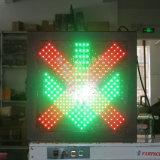 赤十字の緑の矢600mmの点滅の通行料端末の信号