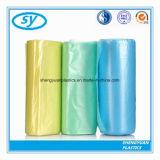 Sacs de détritus en plastique estampés par coutume colorés de PE