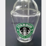 De Post van het Recycling van de Pijp van de Rook van de Kop van het Glas van Starbucks van 3.9 Duim
