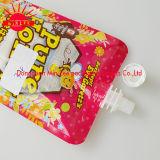 플라스틱 주스 포장을%s 주둥이 음식 통렬한 반박 주머니를 위로 서 있으십시오