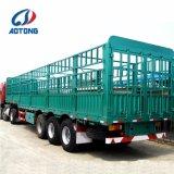 Aotong 3axle Tier-Transport-Zaun-halb Schlussteil (hintere Korbzelle wahlweise freigestellt)