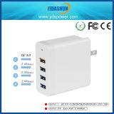 4-haven USB de Post van de Lader van de Muur met QC Lader 3.0 36W Adapter van de Reis van de Telefoon van USB de Mobiele