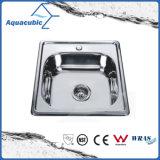 Pulsa redondo de acero inoxidable Fregadero (AEC5150)