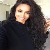 黒人女性のためのインドの人間の毛髪の巻き毛の完全なレースのかつらの/Laceの前部かつら