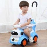 Divertido Passeio de deslizar sobre Walker Pedal de pressão de plástico musicais carros para as crianças