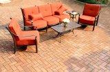 Klassisches Garten-Schwätzchen-Sofa-gesetzte Möbel (rotes Kissen)