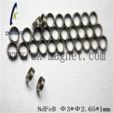 Ck 232 NdFeB 자석 급료 Φ 3*Φ 2.65*1mm