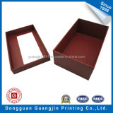 Color rosso Paper Gift Box con Transparent Window