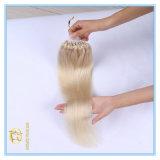 Kundenspezifische Platin-Doppeltes gezeichnete Mikroring-Extensions-Haare der Farben-Qualitäts-#60 mit Fabrik-Preis Ex-019
