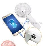 Persönlicher Handportable, der Mini-USB-Batterie-Ventilator mit nachladbarer Batterie abkühlt