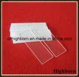 Diapositivas transparentes del microscopio del vidrio de cuarzo del laboratorio del claro de la pureza elevada