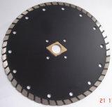 Varios tamaños segmento Turbo hojas de sierra de diamante de soldadura por láser para corte de asfalto