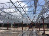 Estructura de acero del nuevo diseño para el taller y la fábrica grandes