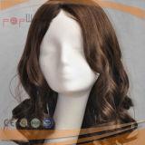100% 사람의 모발 실리콘 가발 (PPG-l-03214)