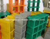 高力防蝕の正方形の網25X38X38のFiberglass/FRPによって形成される格子