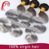 Ombre de la cuticule de couleur des cheveux bruts alignés l'extension de cheveux
