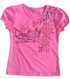 Flower Cute Girl Children's T-Shirt em Kids Wear Clothing Sgt-086